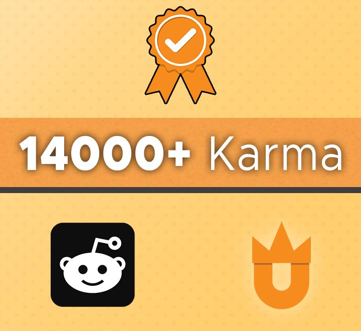 14000+ Karma Account