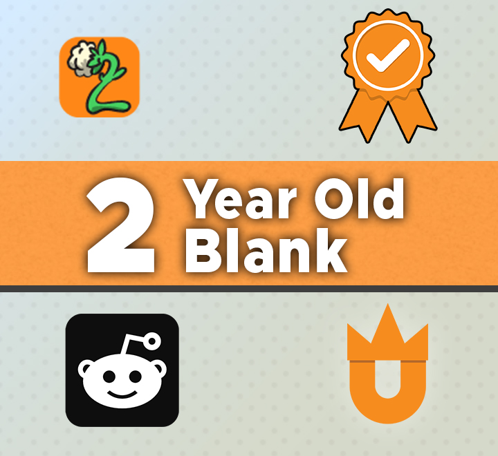 2 Year Old aged reddit accounts