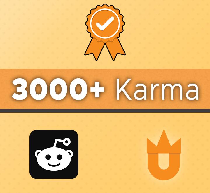 3000+ Karma reddit account