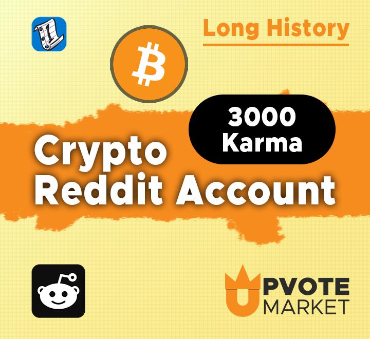 3000+ Karma crypto reddit account